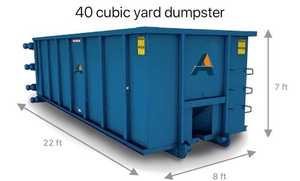 40 cubic yard dumpster. Alliance Disposal offers 40 yard dumpster rentals.