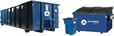 Roll off dumpster rentals, commercial dumpster service and residential waste pickup are available from Alliance Disposal.